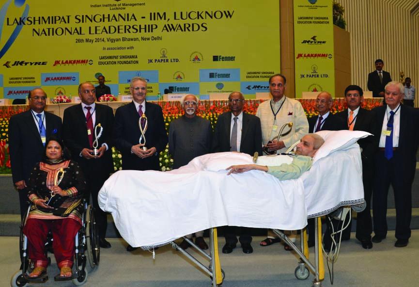 Lakshmipat Singhania - IIM Lucknow National Leadership Award winners